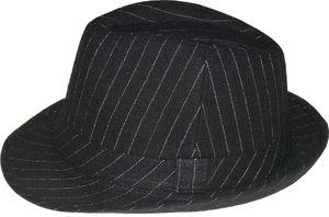 Trilby Hut mit Fischgrät Muster in schwarz  – Bild 2