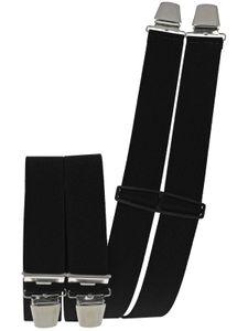 Hosenträger mit 4 Clips  uni extra lang 130 cm – Bild 2