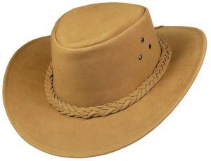 Echter Lederhut aus feinem Nubuckleder  sand! Hut Hüte – Bild 2
