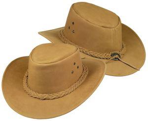 Echter Lederhut aus feinem Nubuckleder  sand! Hut Hüte