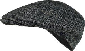 Flatcap in grau mit schmalem Schild!