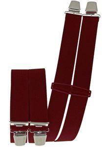 Hosenträger mit 4 Clips  6 uni Farben extra lang 130 cm – Bild 13