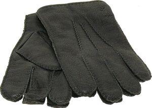Lederhandschuh Handnaht  schwarz