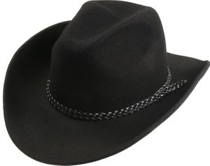 Texashut in schwarz aus 100% Wolle – Bild 1