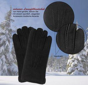 Handschuh aus echtem Lammfell handgenäht – Bild 4