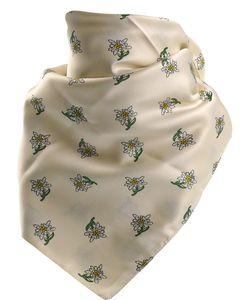 Feines Tuch mit Edelweiss in vielen Farben 60 X 60 cm – Bild 8