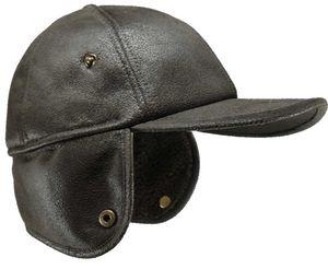Braune Schildmütze  mit Ohrenklappen! – Bild 2