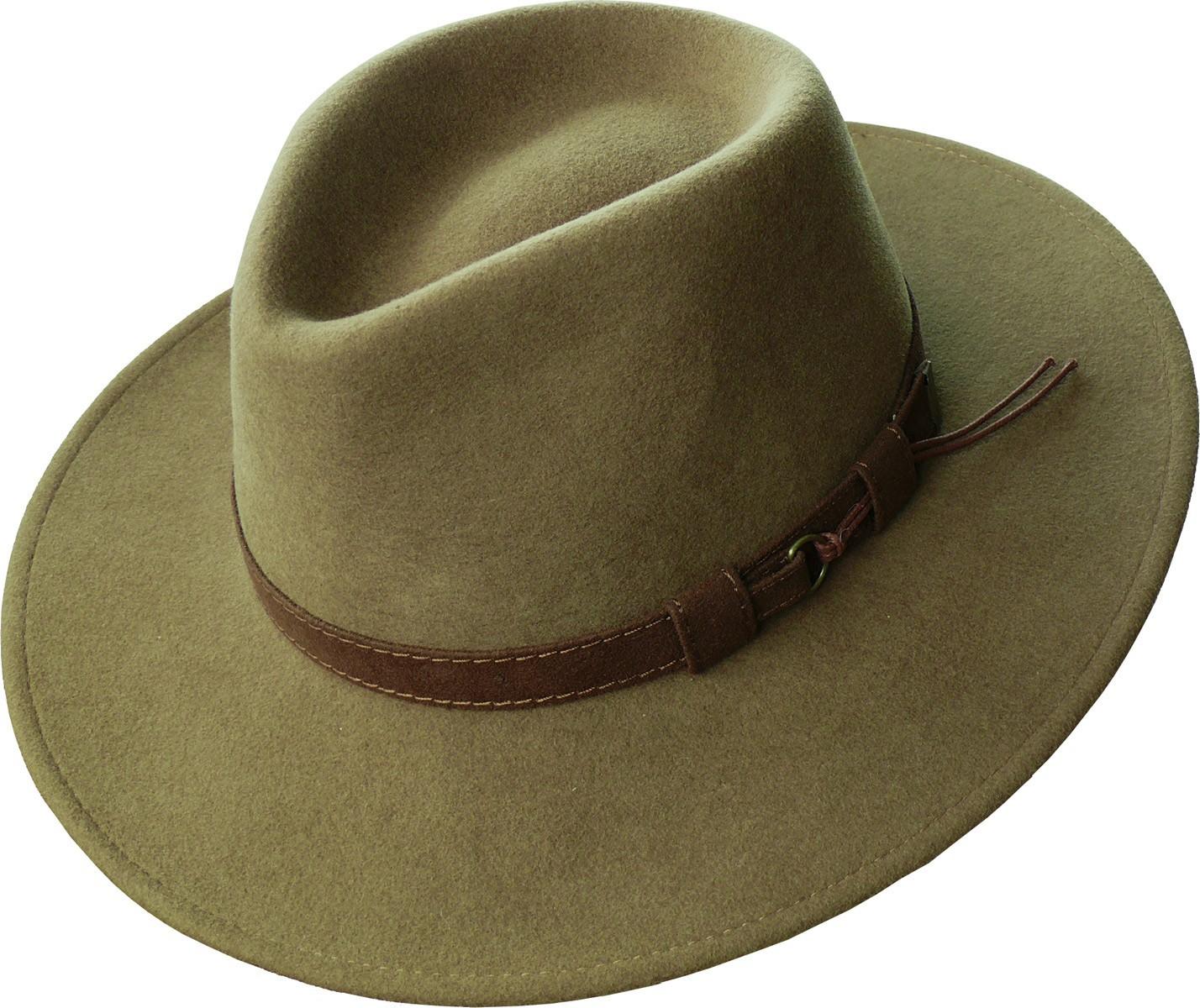 Rollbarer Hut Mit Breiter Krempe Braunes Stoffband In 3 Farben Hute