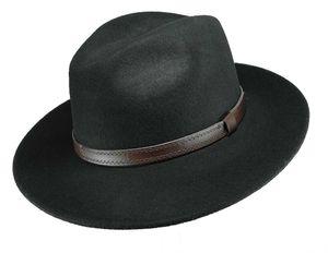 Günstiger Hut mit braunem Band in schwarz