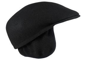 Flatcap aus Wollfilz mit Ohrenklappen