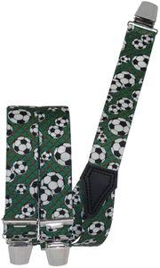 Hosenträger mit 3 Clipsen Fußball! Sport WM Ball