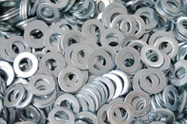 Verzinkte Unterlegscheiben 13mm innen 24 mm aussen 2 mm dick 500 Stück PV-1576