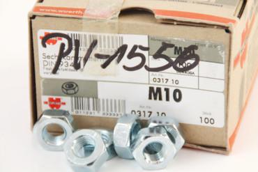100 Würth Sechskantmuttern M10 031710 DIN 934 verzinkt I8I NEU PV1556