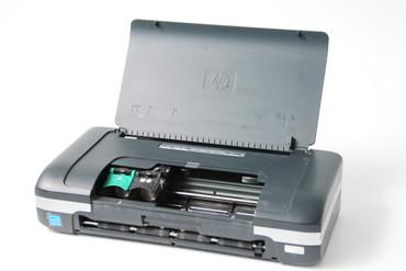 HP Officejet H470wbt CB028A mobiler Farbtintenstrahldrucker Fotodrucker ohne Netzteil / Akku DEFEKT – Bild 2