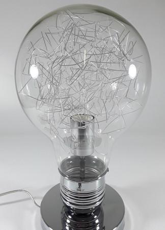 Wink Design Tomasucci Neutral Designer Tischlampe Glühlampe Light Bulb chrom – Bild 3