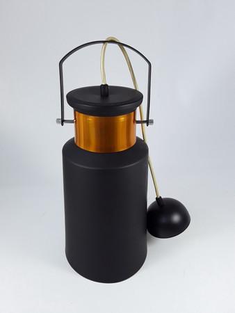 Hafenbarlampe Partykellerlampe Kneipenlampe Milchkanne schwarz/kupfer NEU B-Ware – Bild 1