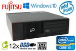 Fujitsu Esprimo E710 Intel Core i3-2120 2x3.3GHz 4GB RAM 250GB HDD DVD-ROM Win10 001