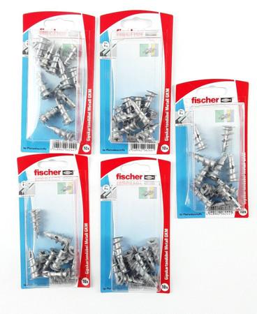 5 Pack a 10 Stück Fischer Gipskartondübel Metall GKM K SB-Karte 504330 – Bild 1