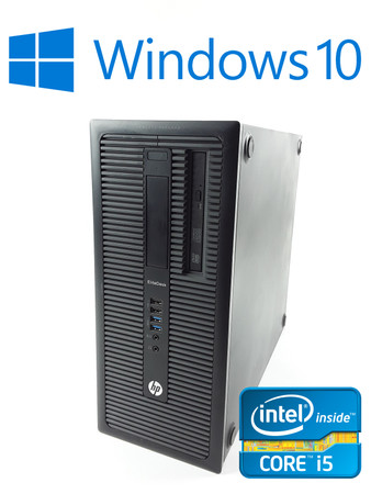 HP Elitedesk 800 G1 Tower Intel Core i5-4590 4x3,3GHz 8GB RAM 500GB HDD DVD – Bild 1