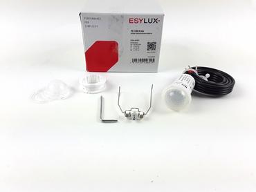 Esylux Präsenzmelder 0-360° Unterputz opal matt IP55 PD-C 360/8 mini Slave2300W  – Bild 2