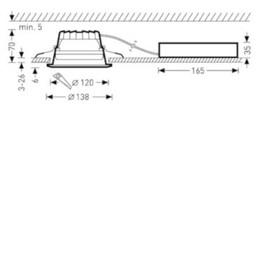 Trilux LED-Einbaudownlight C04 WR1400-830ET01 Downlight Amatris G2 6855940 – Bild 5