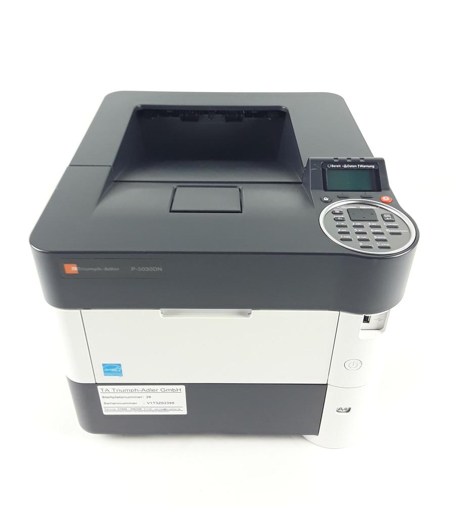 Triumph-Adler P-5030DN s/w Laser Drucker Printer 164110 Seiten mit 70%  Resttoner