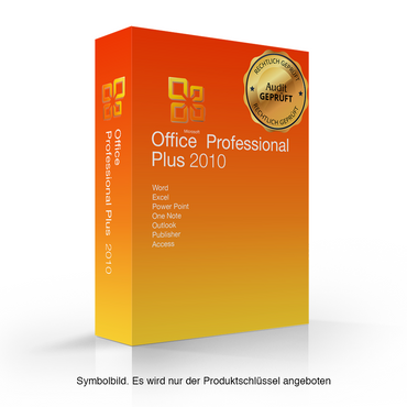 Microsoft Office 2010 Professional Plus mit Audit Nachweis