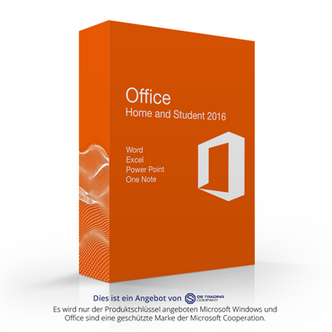 Microsoft Office 2016 Home & Student, online Aktivierung