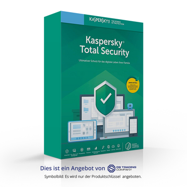 Kaspersky Total Security Multi-Device, 2019, 3 Geräte 1 Jahr, NEU