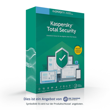 Kaspersky Total Security, Multi-Device, 2019, 5 Geräte 1 Jahr