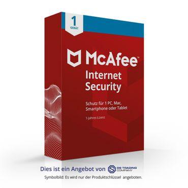 McAfee Internet Security, 1 Gerät, 1 Jahr für PC/Mac/Smartphone