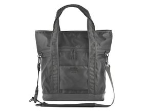 NXL 2FACE TOTE - BLACK / LEATHER