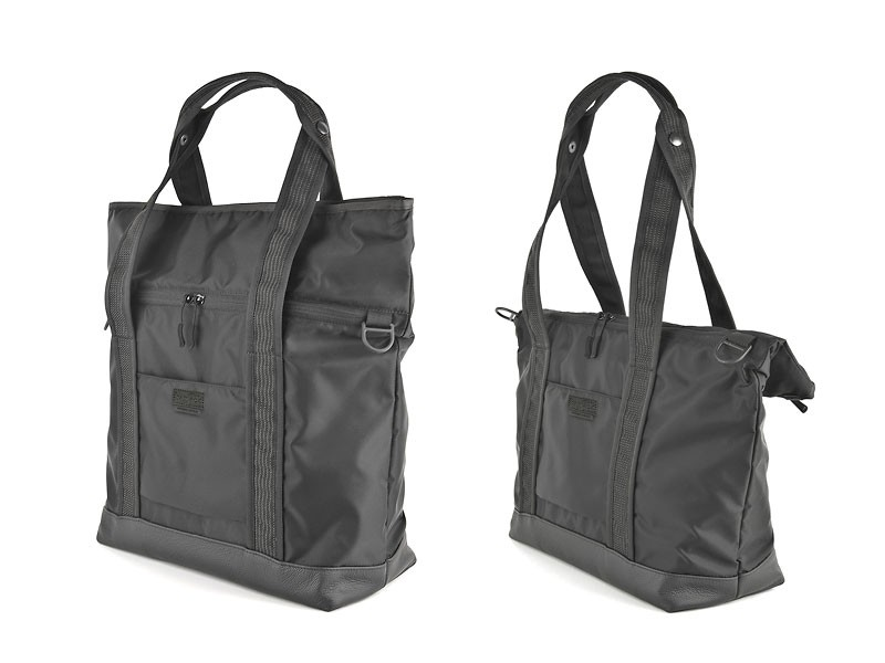 NXL 2FACE TOTE BLACK LEATHER