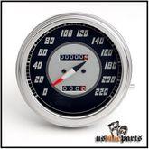 Fat Bob Tachometer km/h 2:1 Tacho  Harley Davidson WLA Shovelhead FLH Evo 001