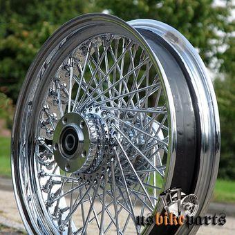 """Cerchione 3,5x16 anteriore 80 raggi 1x flangia 3/4""""  per Harley Davidson"""