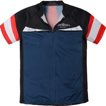 Sport Bike Kurzarm Jacke von Allsize in Übergrößen, rot blau