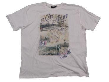 Kitaro Shirt La Cote d'Azur in 100% Baumwolle, creme