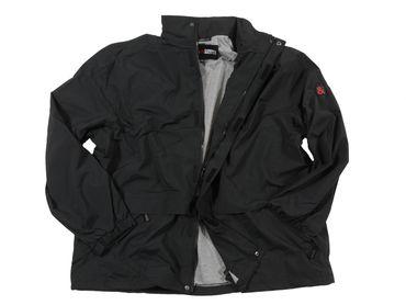 Funktions- Regenjacke in Herrenübergröße bis 12XL, schwarz – Bild 1