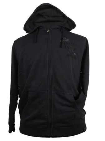 Hoody Sweatshirt Jacke in anthrazit mit Patch von Kitaro