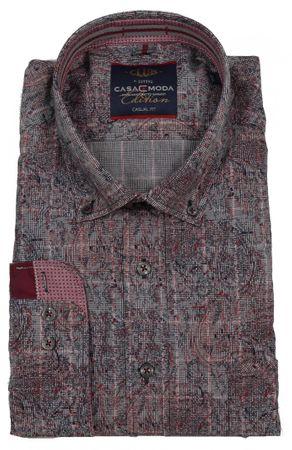 Extravagantes Button-Down Langarmhemd von CasaModa
