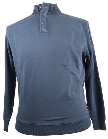 Modernes Sweatshirt mit Strickärmel in Petrol von Hajo