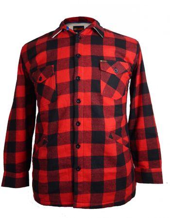 Gefütterte Holzfäller- Hemdjacke von Kamro, rot – Bild 1