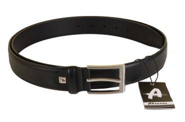 Ledergürtel in Überlänge von Abraxas in schwarz 3,5cm breit