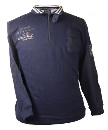 Kitaro Sweat Shirt mit Brusttasche in navy