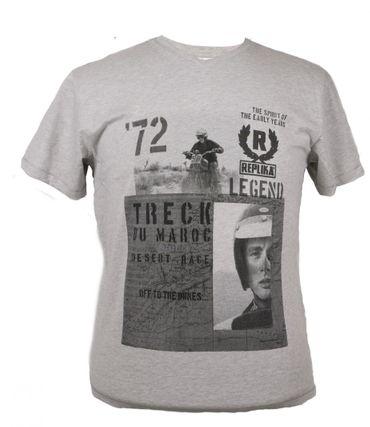 Desert Race T-Shirt von Allsize, graumelange