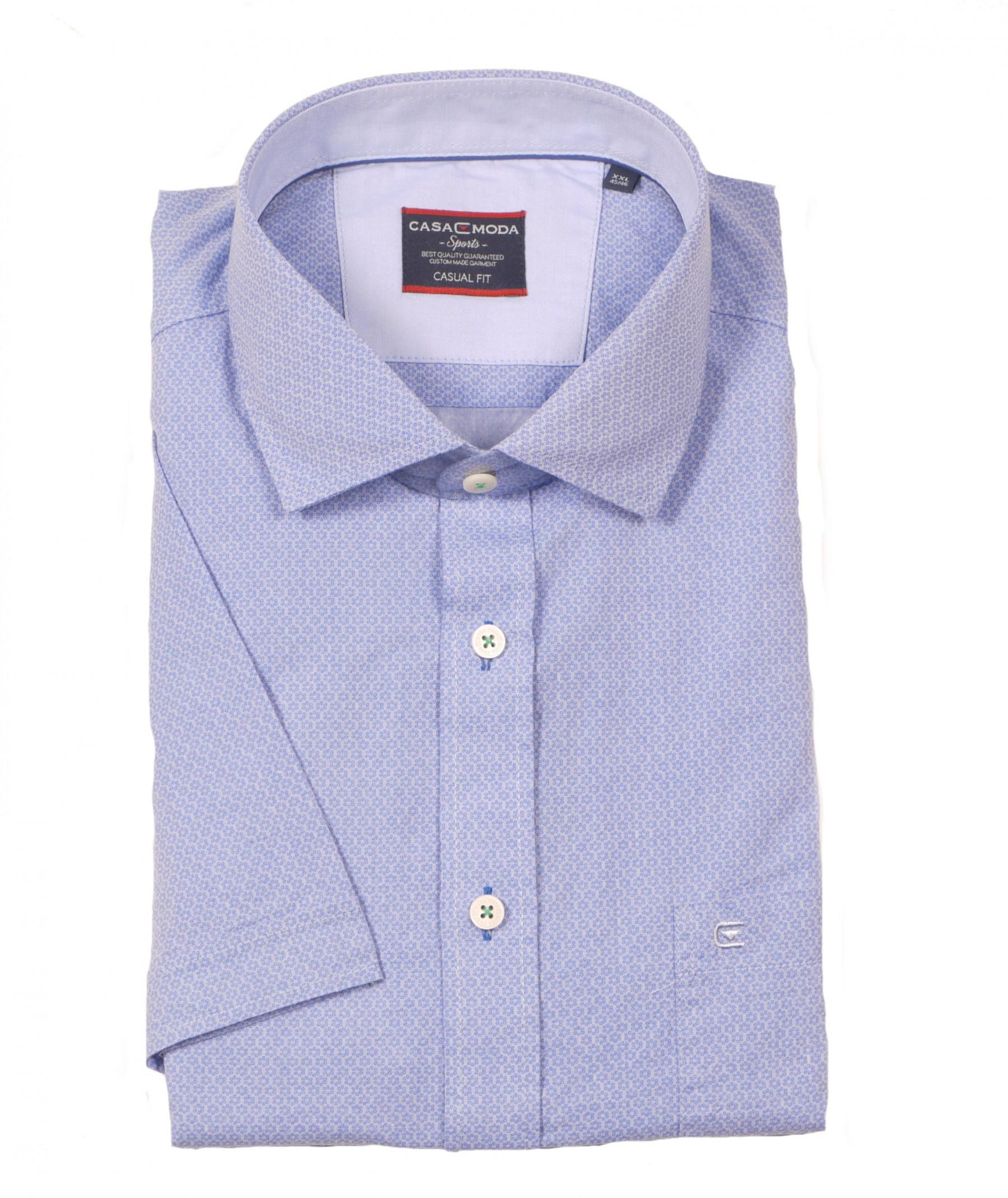 67aa105e1ee0 Kurzarm Hemd von Casa Moda mit Kent Kragen, blau