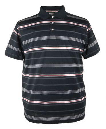 Poloshirt mit Brusttasche von Allsize bis 8XL, schwarz