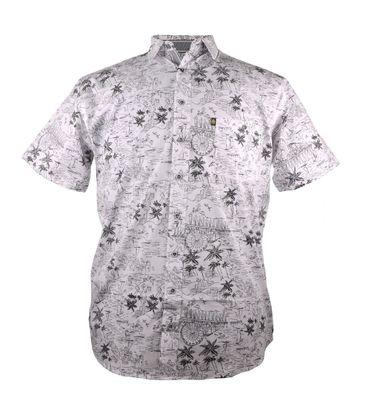 Kamro Freizeithemd bedruckt in schwarz weiß