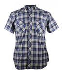 Übergrößen Kurzarm Hemd von Kamro ,blau weiß kariert