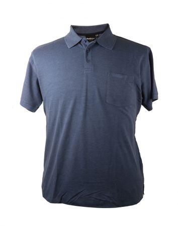 Basic- Polo von Allsize in Übergrößen, blau melange